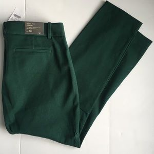 J. Crew Winnie Dress City Fit Pants Green